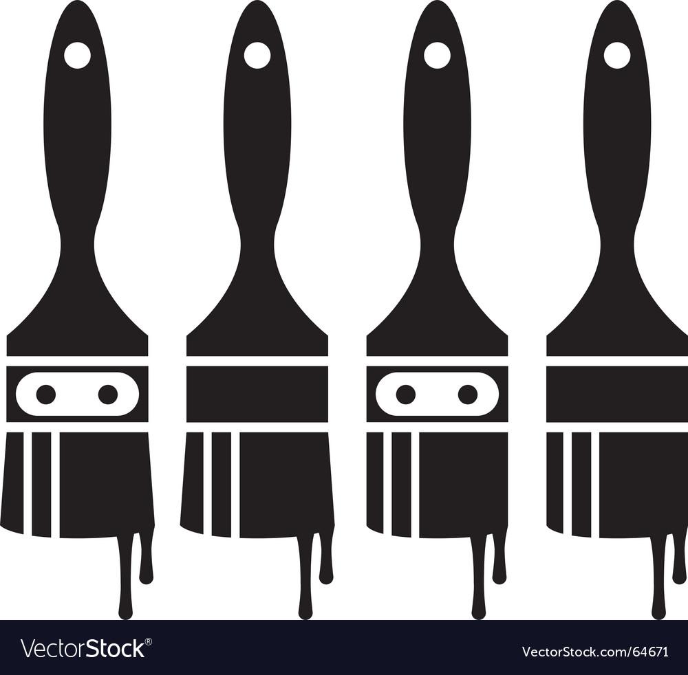 Paintbrush set vector | Price: 1 Credit (USD $1)