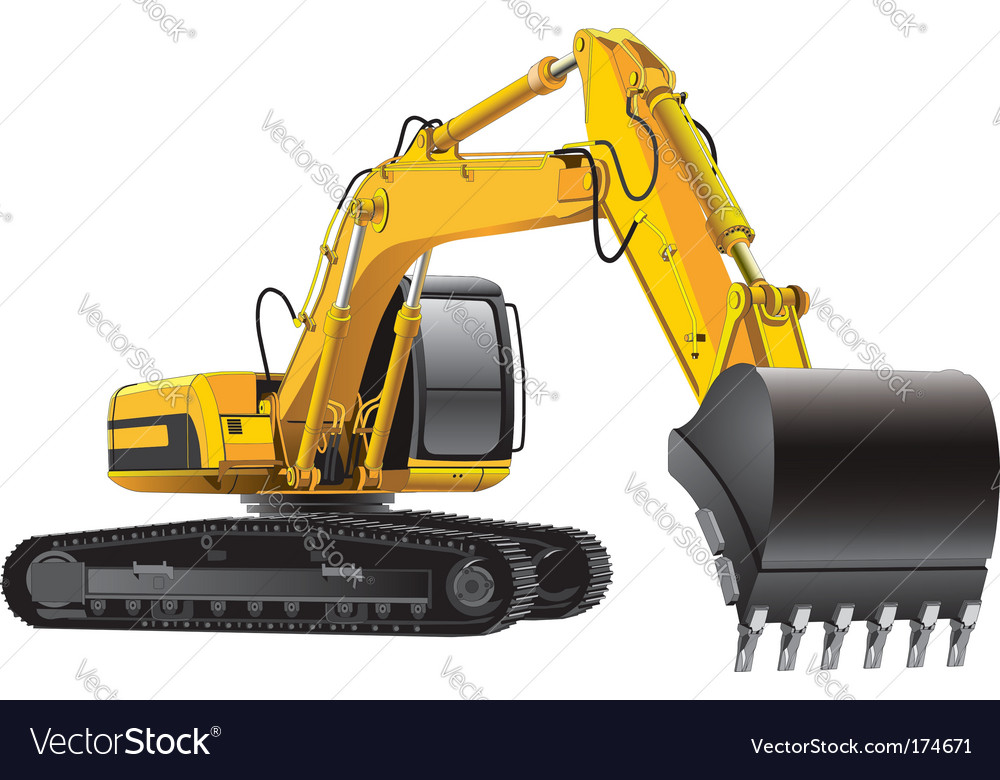 Power excavator vector | Price: 3 Credit (USD $3)