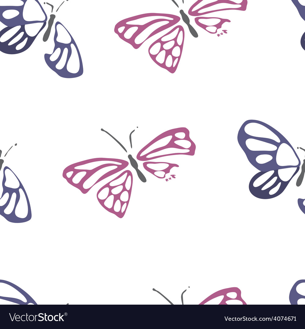 Seamless pattern with dead butterflies vector | Price: 1 Credit (USD $1)