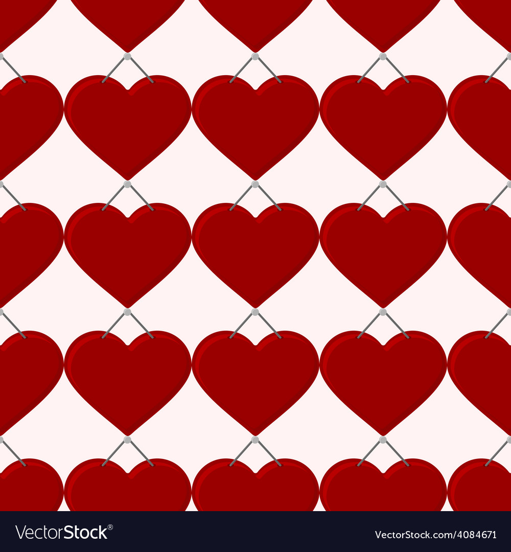 Seamless red heart vector | Price: 1 Credit (USD $1)
