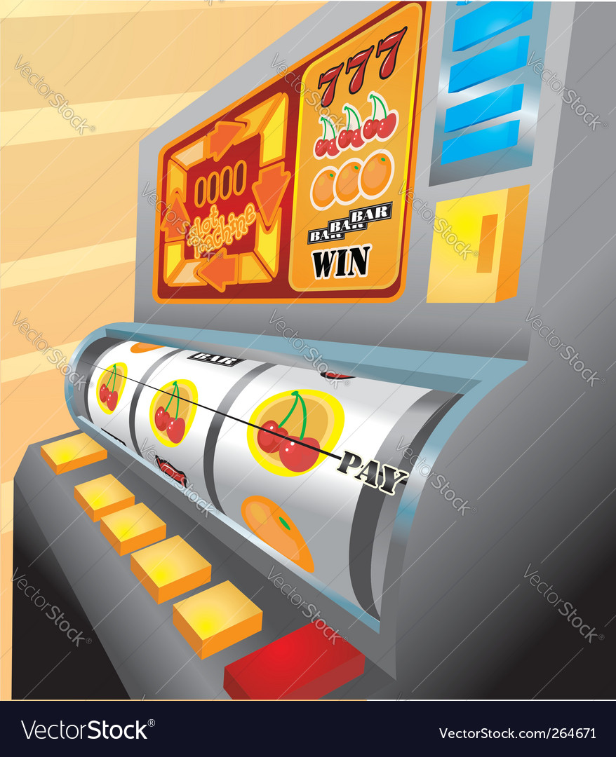 Slot machine illustration vector | Price: 1 Credit (USD $1)