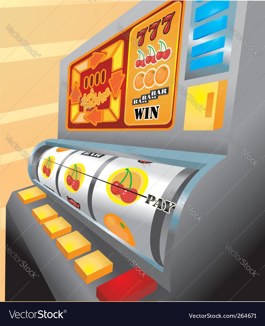 Slot machine illustration vector | Price: 1 Credit (USD $1)