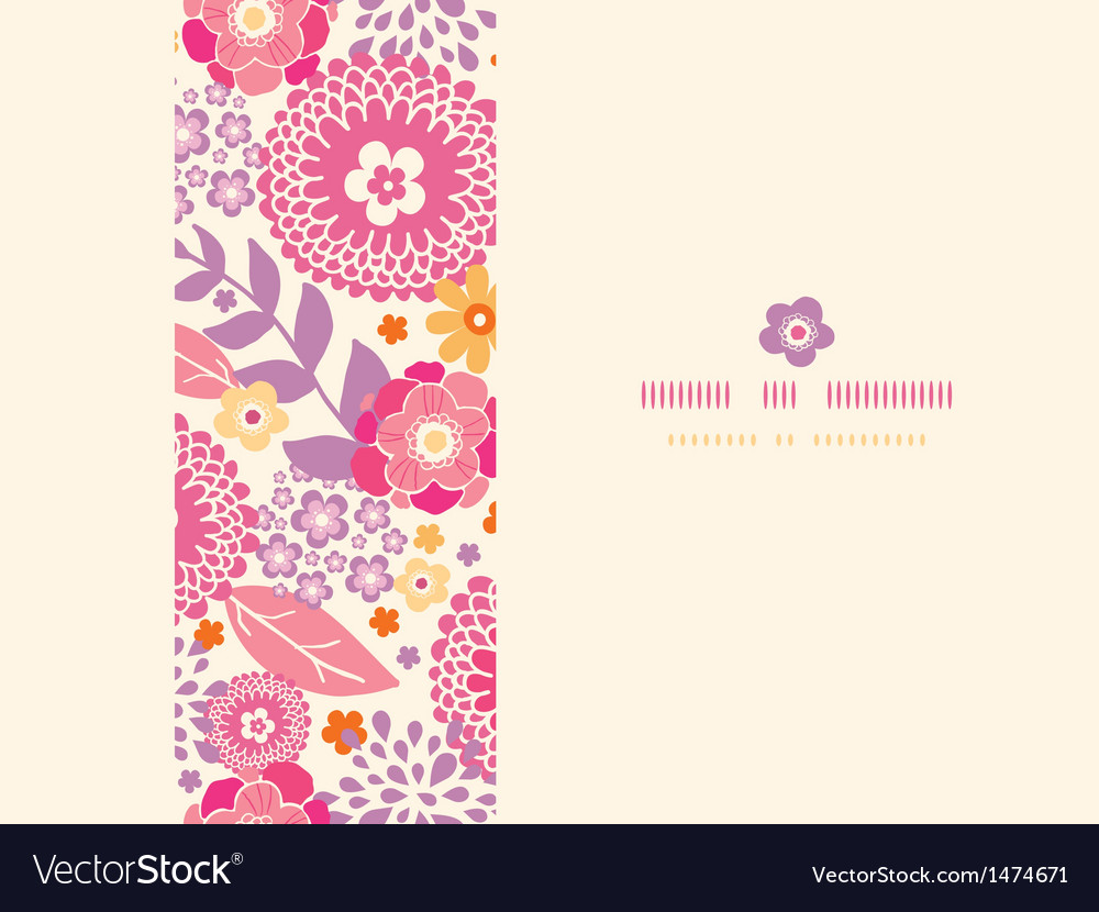 Warm summer plants frame horizontal seamless vector | Price: 1 Credit (USD $1)