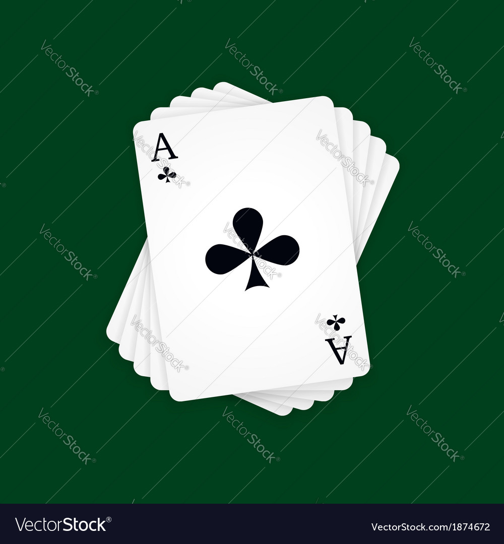 Ace of clubs vector | Price: 1 Credit (USD $1)
