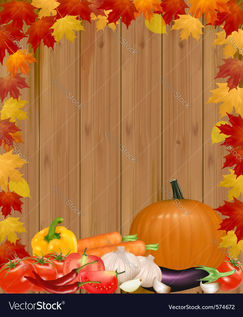 Autumn background with vegetables vector | Price: 1 Credit (USD $1)