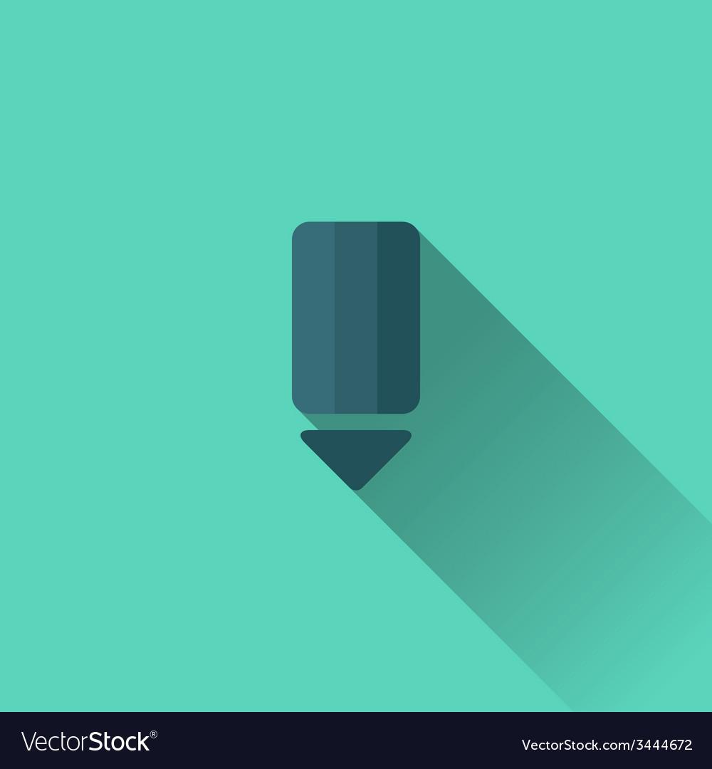 Blue pencil icon flat design vector | Price: 1 Credit (USD $1)