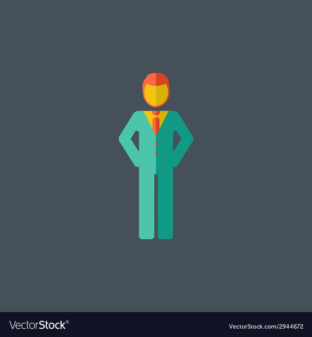 Man flat icon vector | Price: 1 Credit (USD $1)