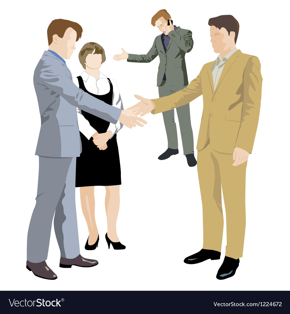 Office negotiations vector | Price: 3 Credit (USD $3)