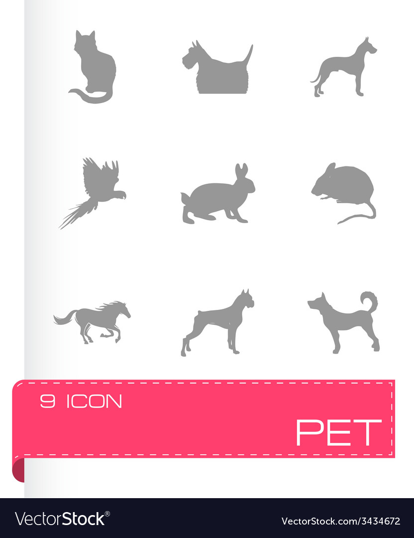 Pet icons set vector | Price: 1 Credit (USD $1)