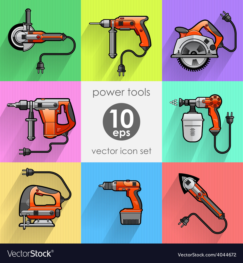 Power tool set vector | Price: 1 Credit (USD $1)