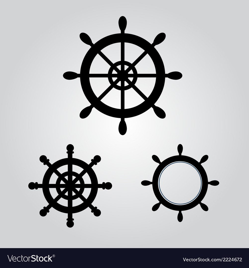 Rudder for boat and ship logo icon stock vector | Price: 1 Credit (USD $1)
