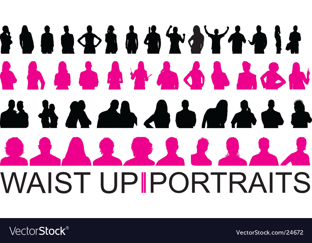 Waist up and portraits vector | Price: 1 Credit (USD $1)