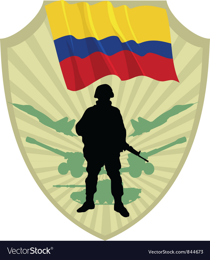 Army of colombia vector | Price: 1 Credit (USD $1)
