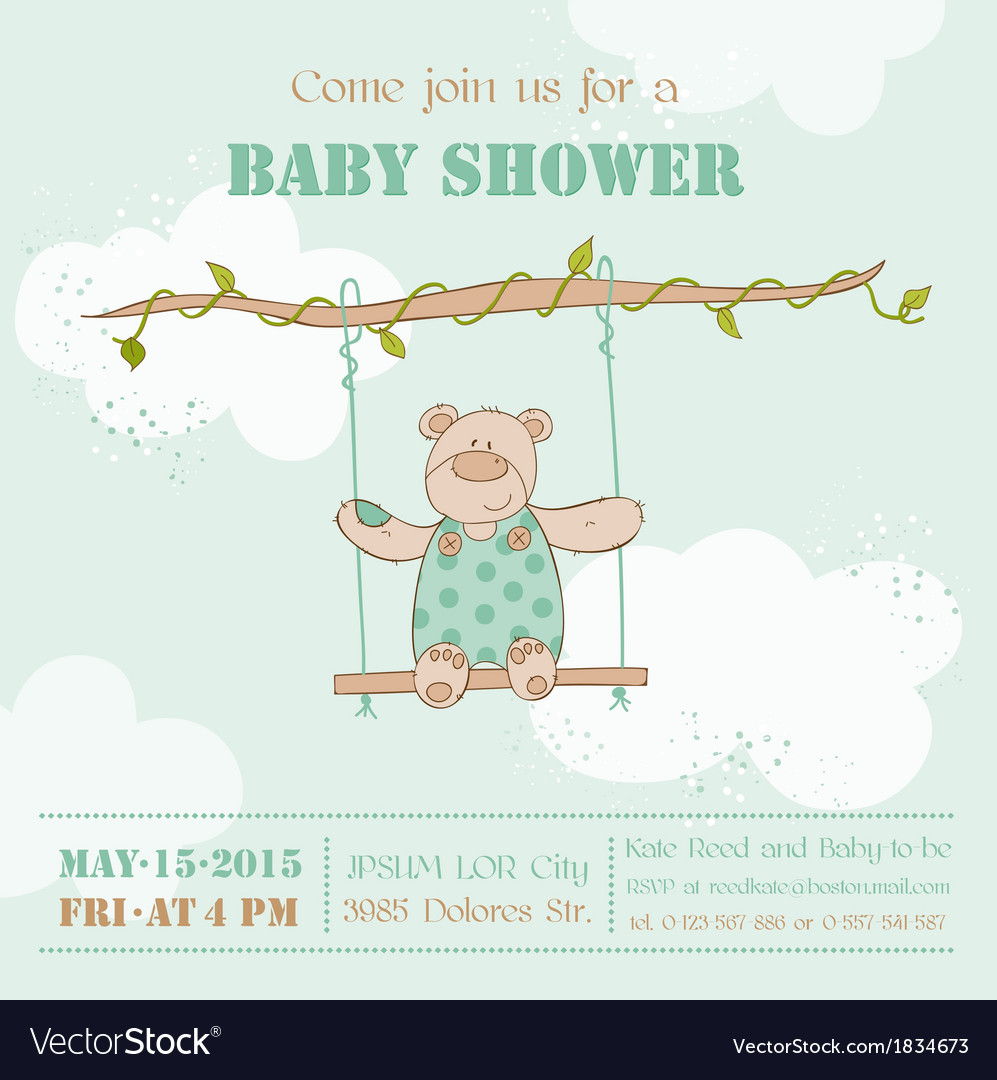 Baby shower card vector | Price: 1 Credit (USD $1)