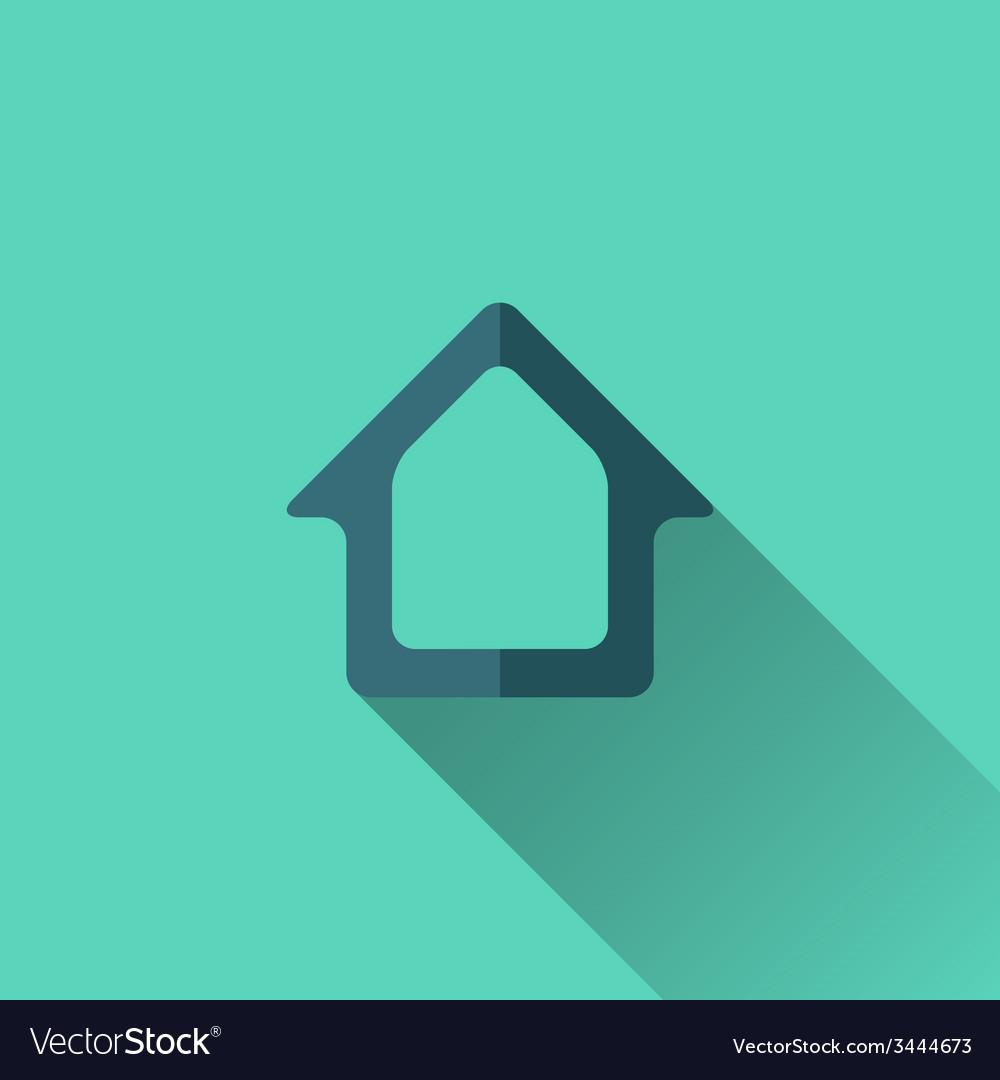 Blue home icon flat design vector | Price: 1 Credit (USD $1)