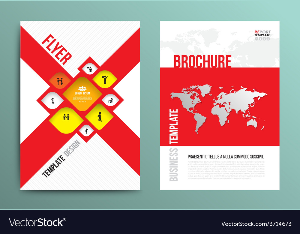 Brochure flyer design layout template in a4 size vector | Price: 1 Credit (USD $1)