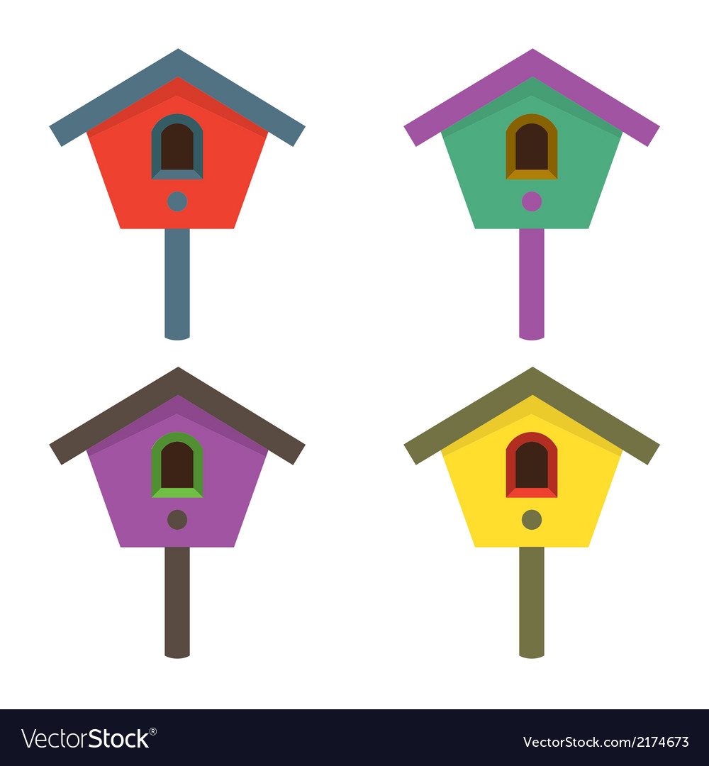 Colorful birdhouses vector | Price: 1 Credit (USD $1)