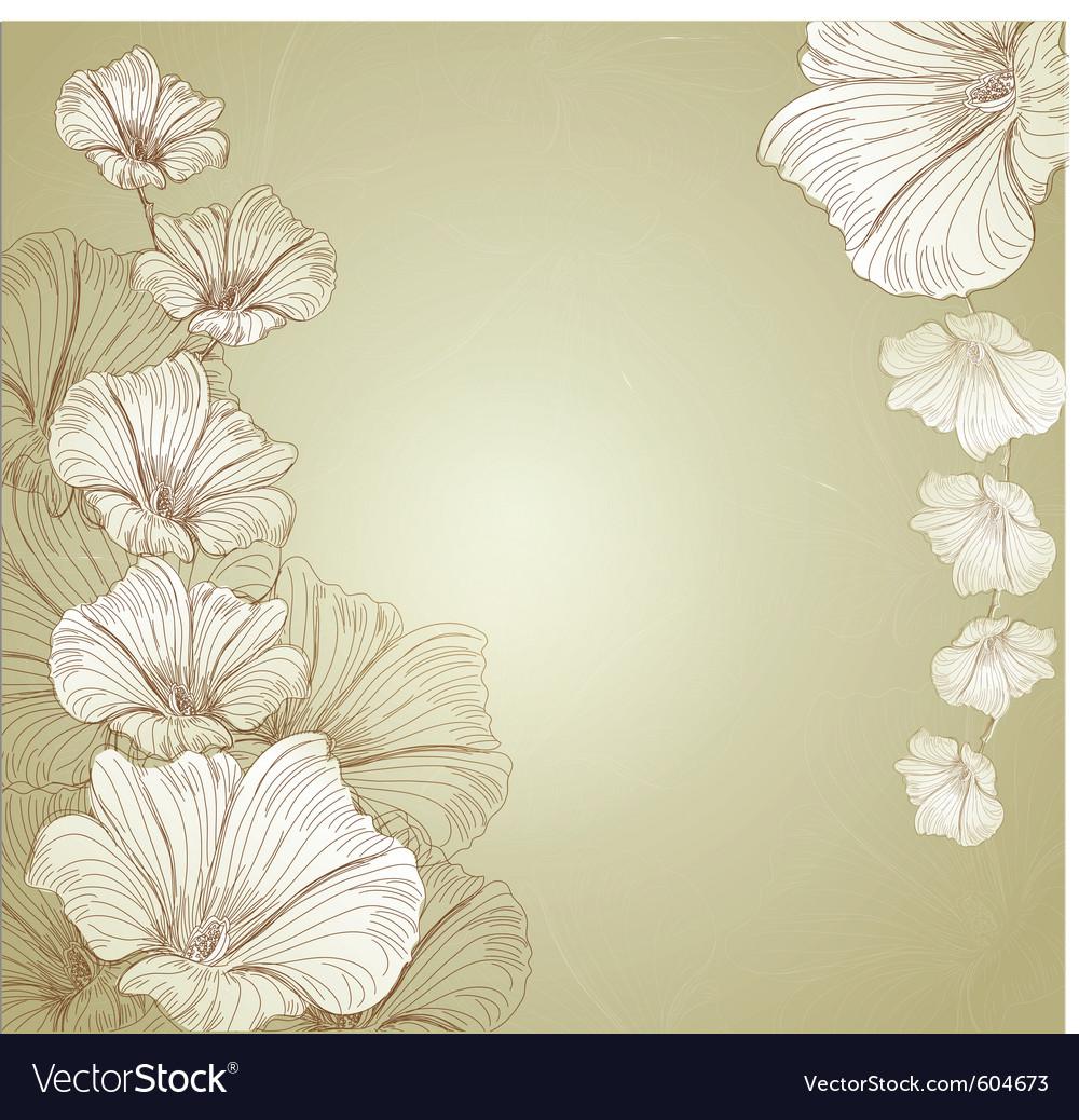 Congratulatory floral background vector | Price: 3 Credit (USD $3)