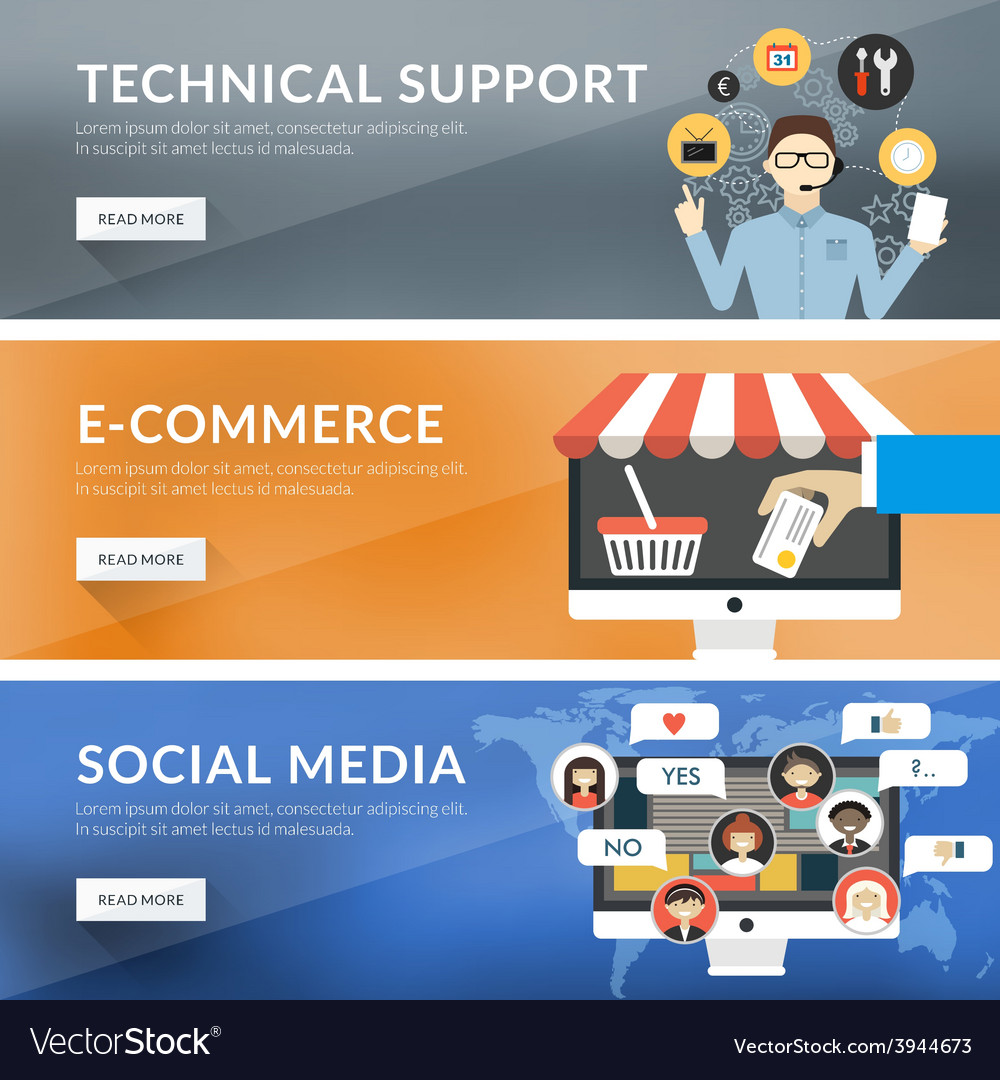 Flat design concept for technical support vector | Price: 1 Credit (USD $1)