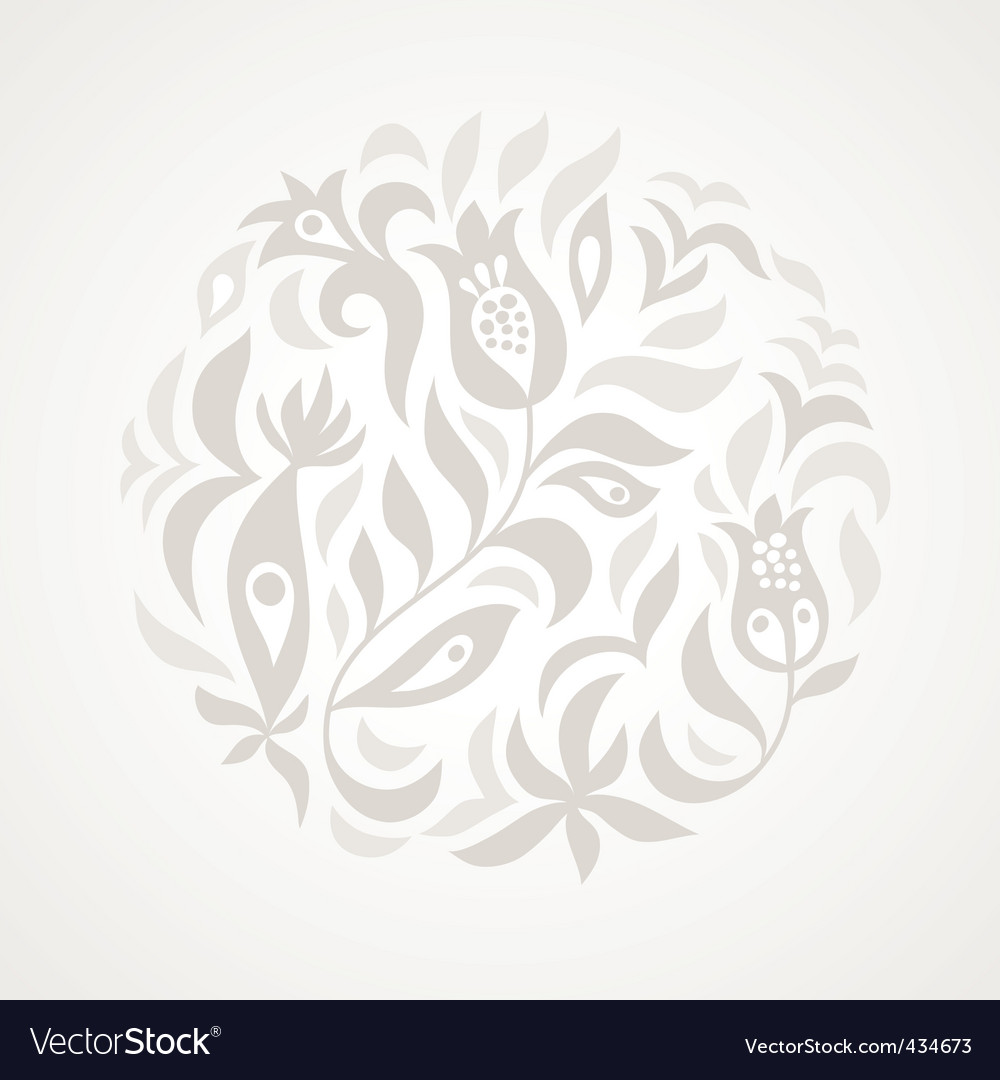 Floral illustration vector | Price: 1 Credit (USD $1)
