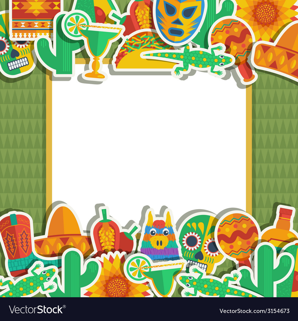 Mexican frame vector | Price: 1 Credit (USD $1)