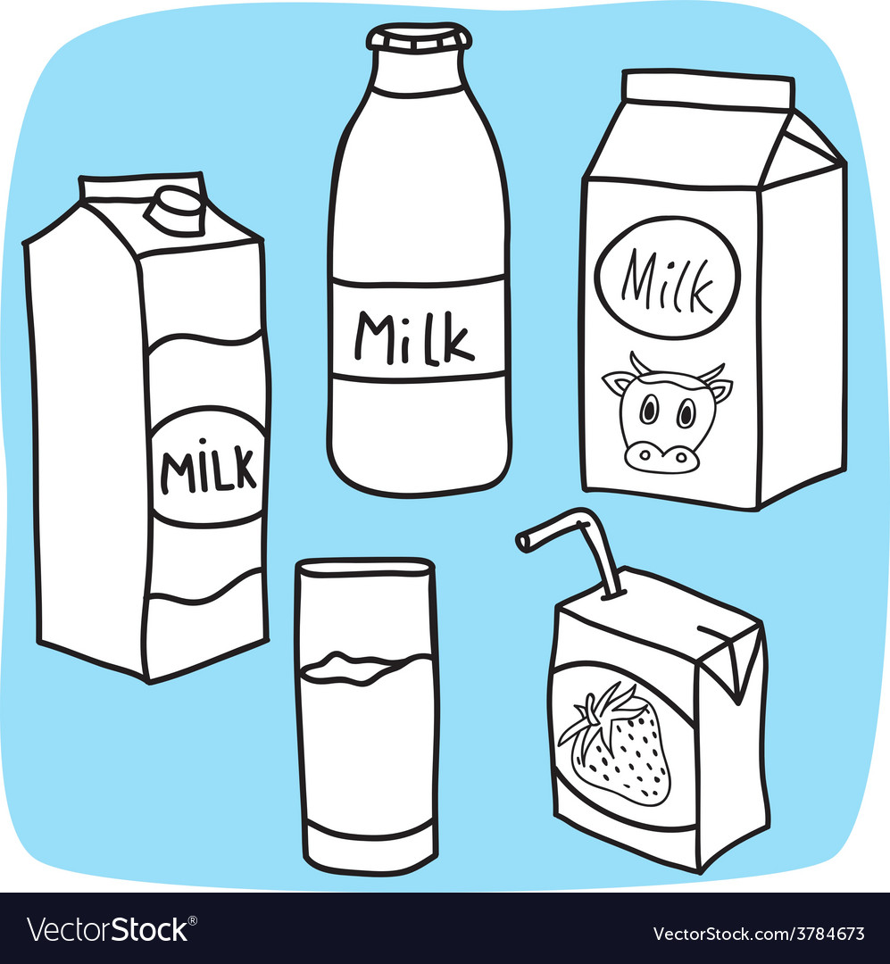 Milk and diary products vector | Price: 1 Credit (USD $1)