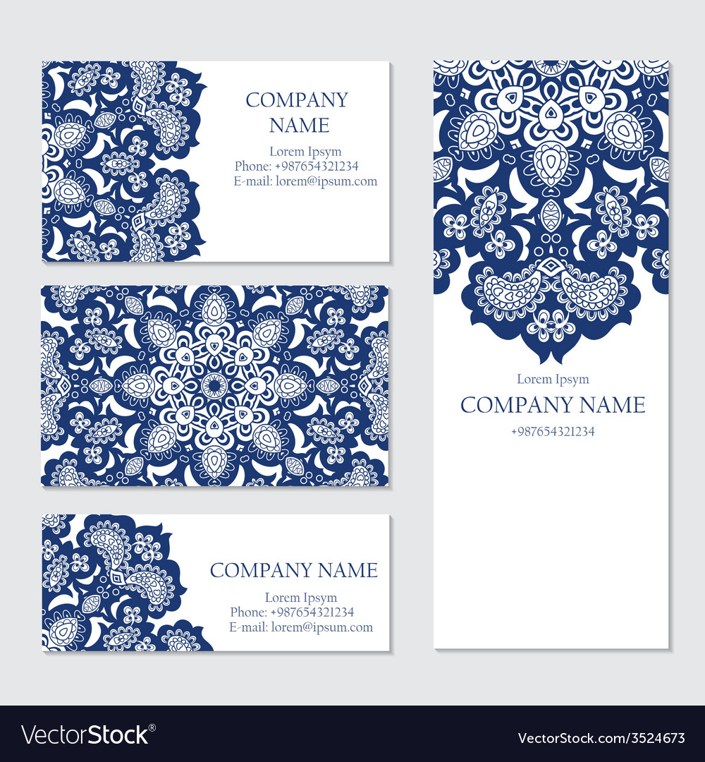 Set of business or invitation cards templates vector | Price: 1 Credit (USD $1)