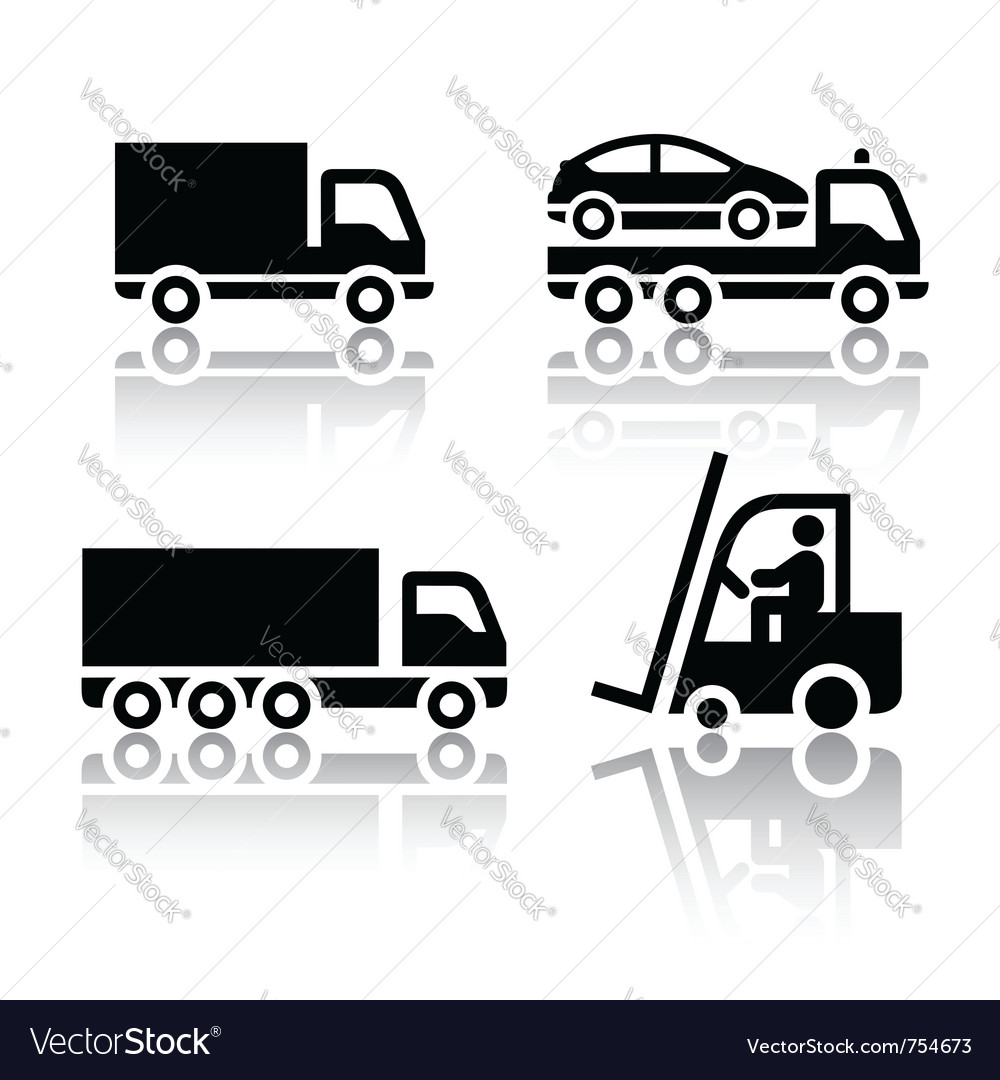 Set of transport icons - truck vector | Price: 1 Credit (USD $1)