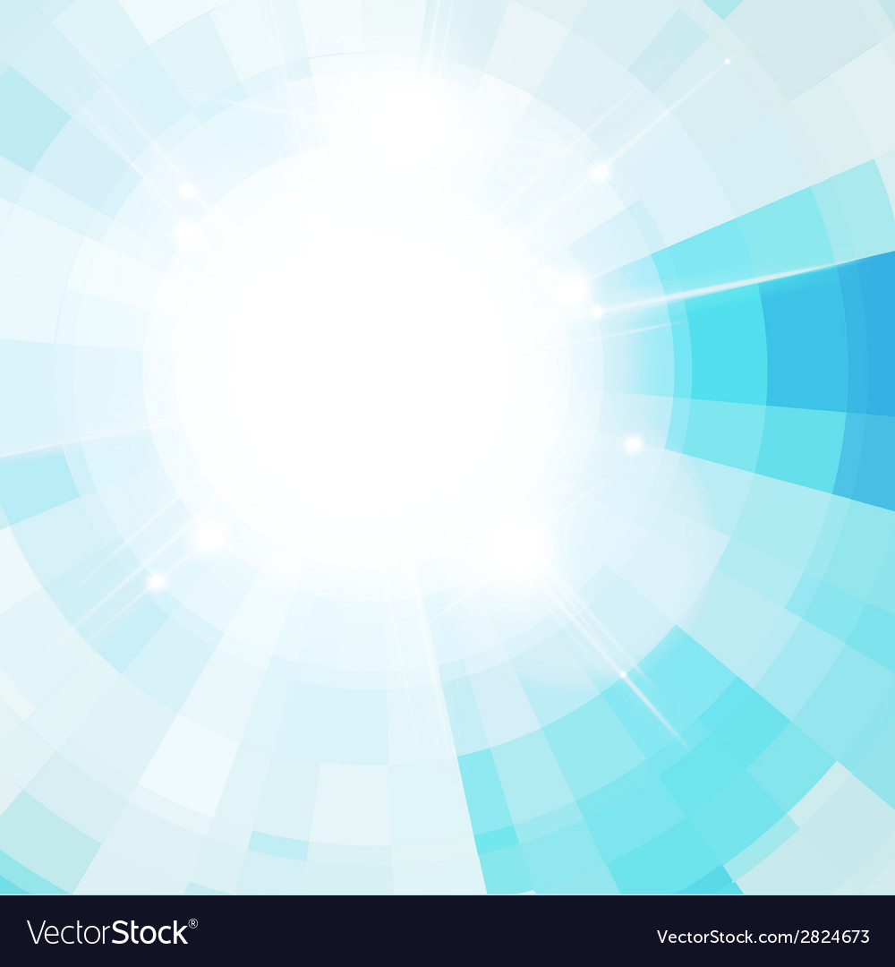 The sun in the blue sky vector | Price: 1 Credit (USD $1)