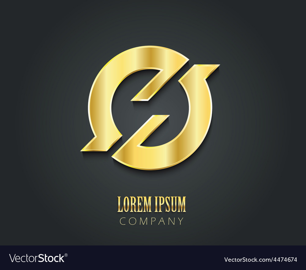 Creative logo design template golden symbol vector | Price: 1 Credit (USD $1)
