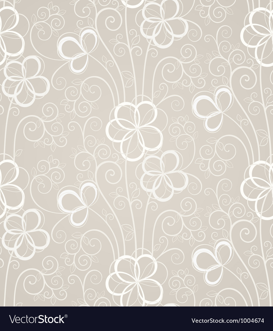 Excellent swirl floral seamless background vector | Price: 1 Credit (USD $1)