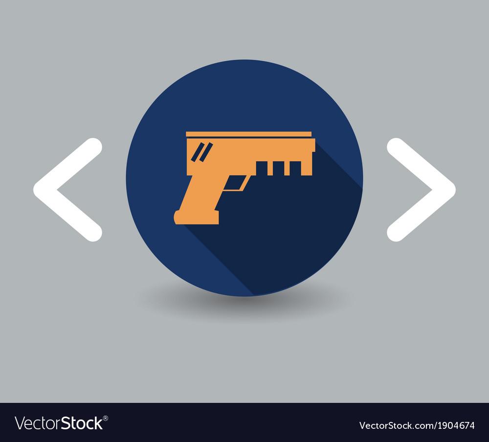 Gun icon vector | Price: 1 Credit (USD $1)