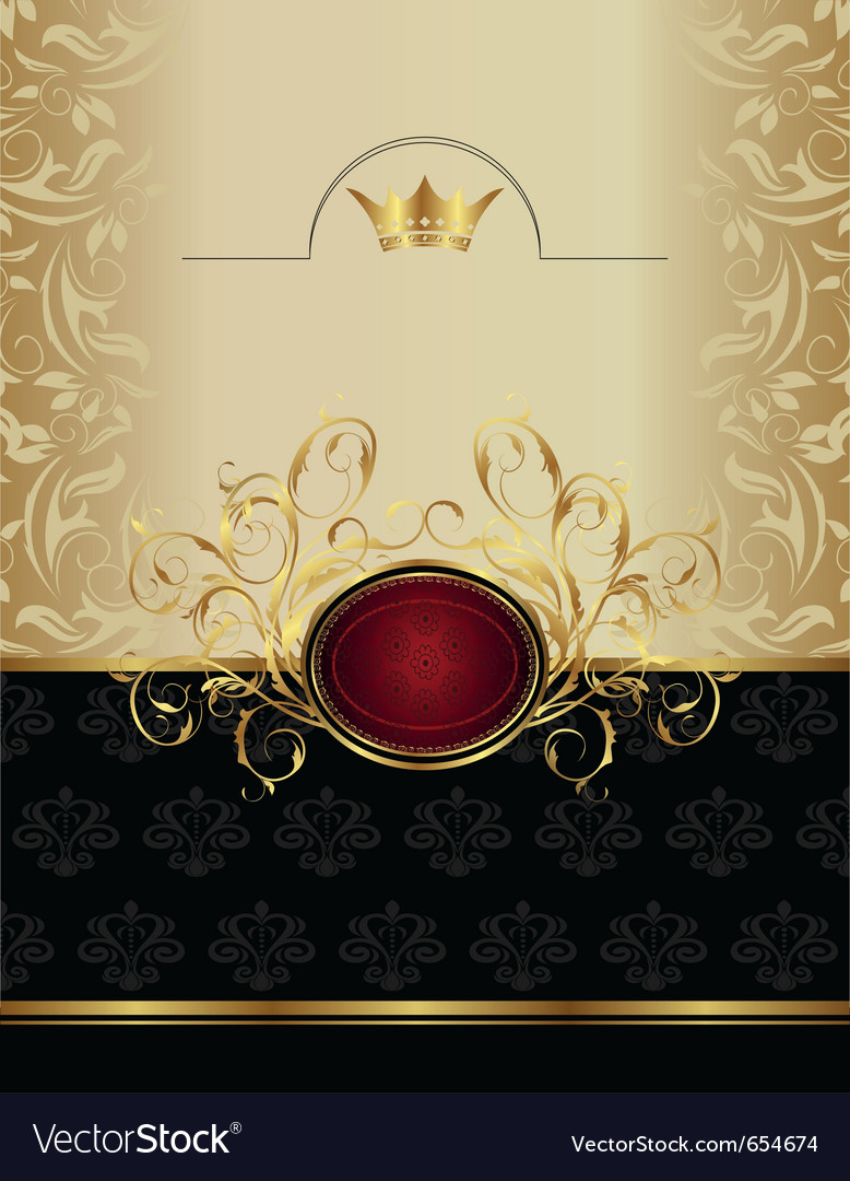 Luxury gold label with emblem - vector | Price: 1 Credit (USD $1)