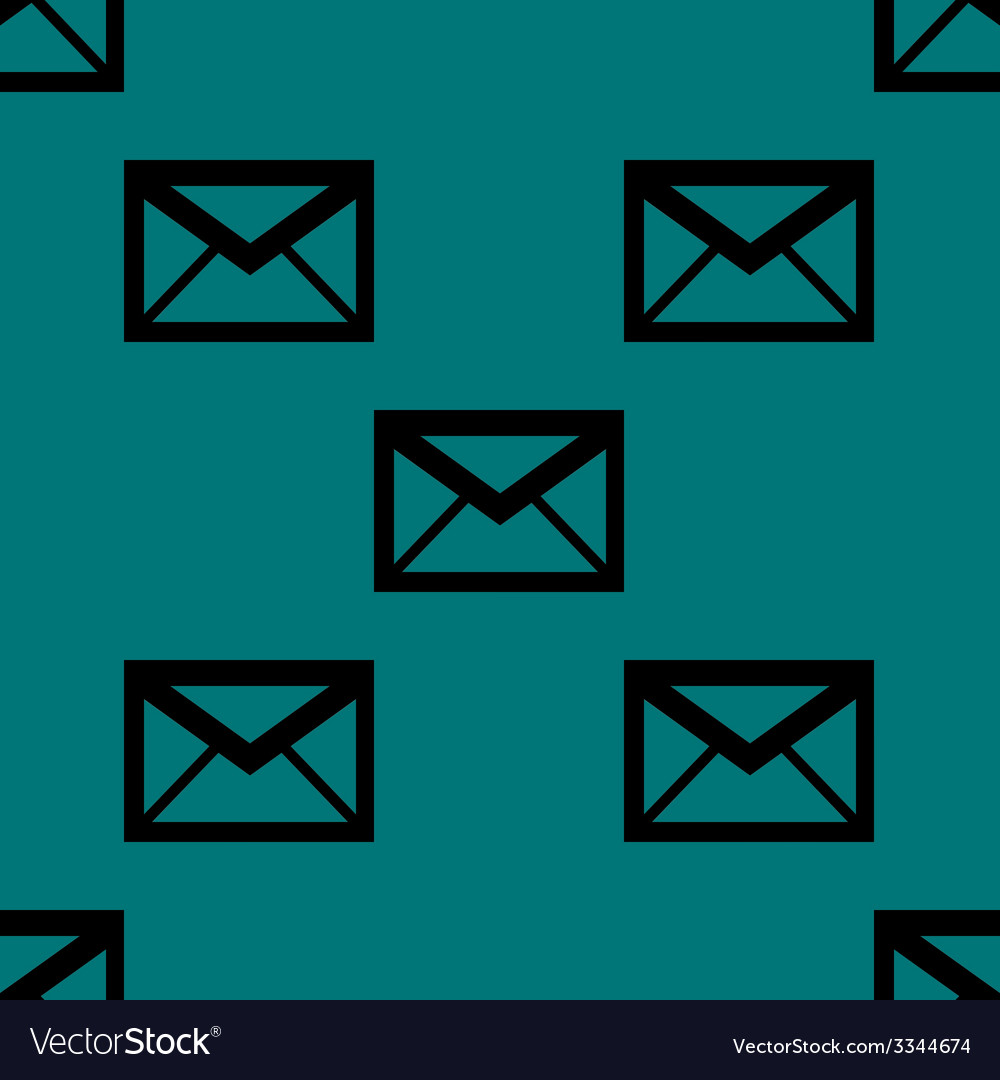 Mail envelope web icon flat design seamless vector   Price: 1 Credit (USD $1)