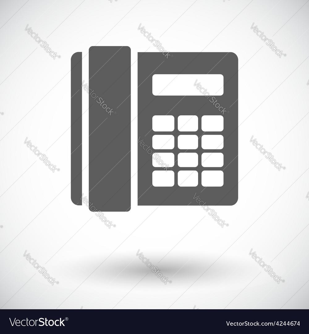 Phone single flat icon vector | Price: 1 Credit (USD $1)