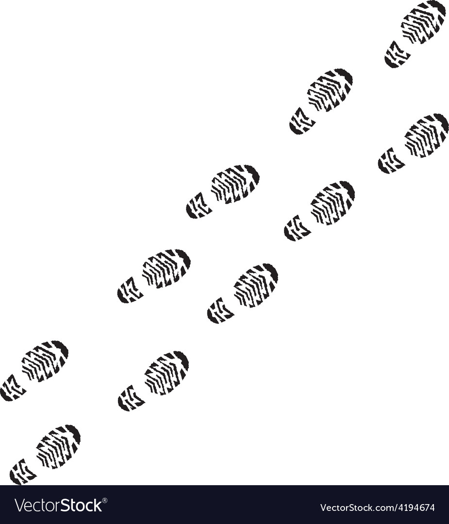 Shoe print track vector | Price: 1 Credit (USD $1)