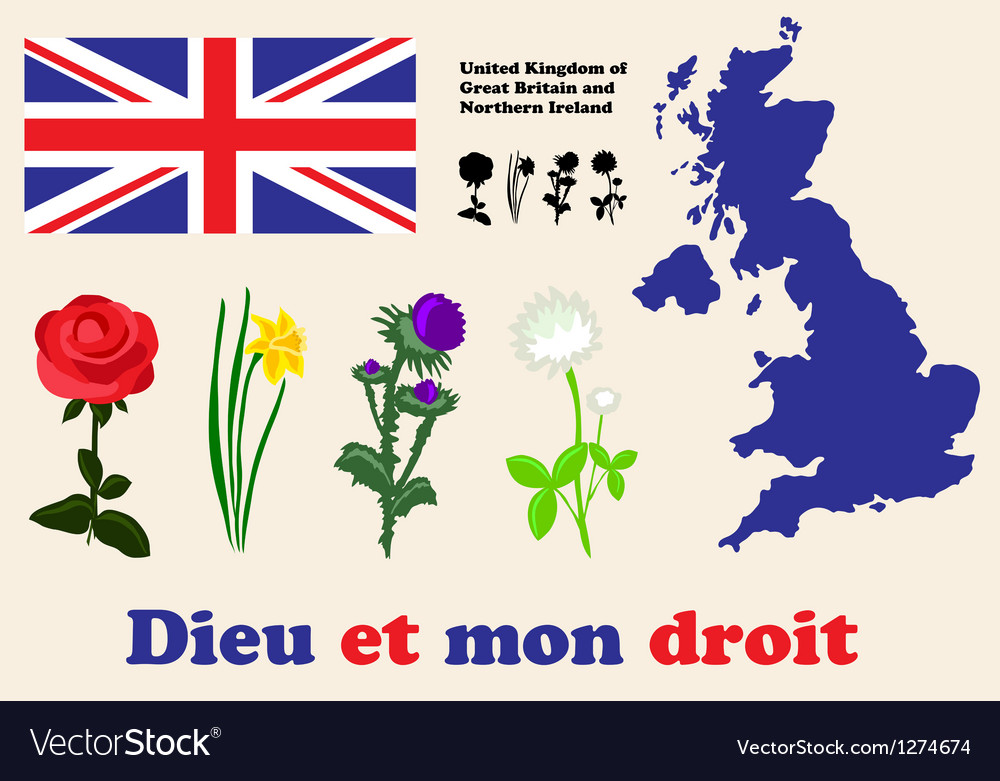 United kingdom symbols vector | Price: 1 Credit (USD $1)