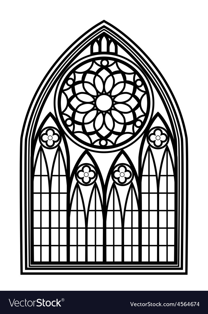Window for churches and monasteries vector | Price: 1 Credit (USD $1)
