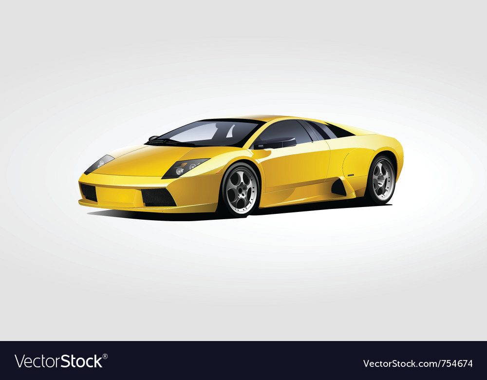 Yellow sport car vector | Price: 5 Credit (USD $5)