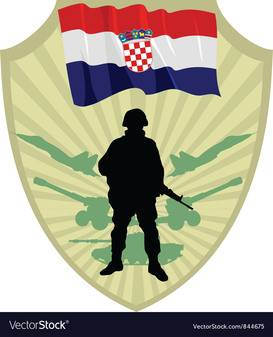 Army of croatia vector | Price: 1 Credit (USD $1)