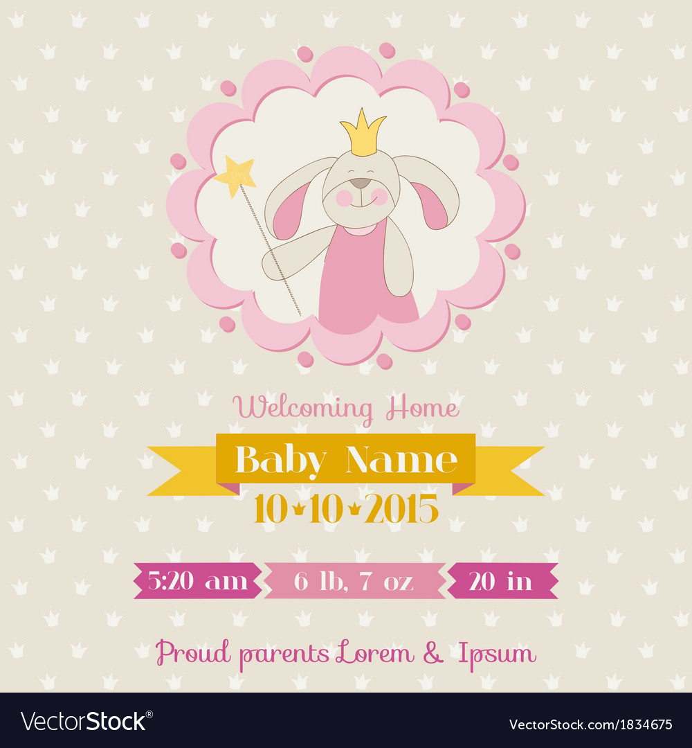 Baby shower or arrival card vector | Price: 1 Credit (USD $1)