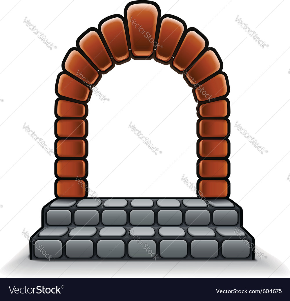 Entrance stone door vector | Price: 1 Credit (USD $1)