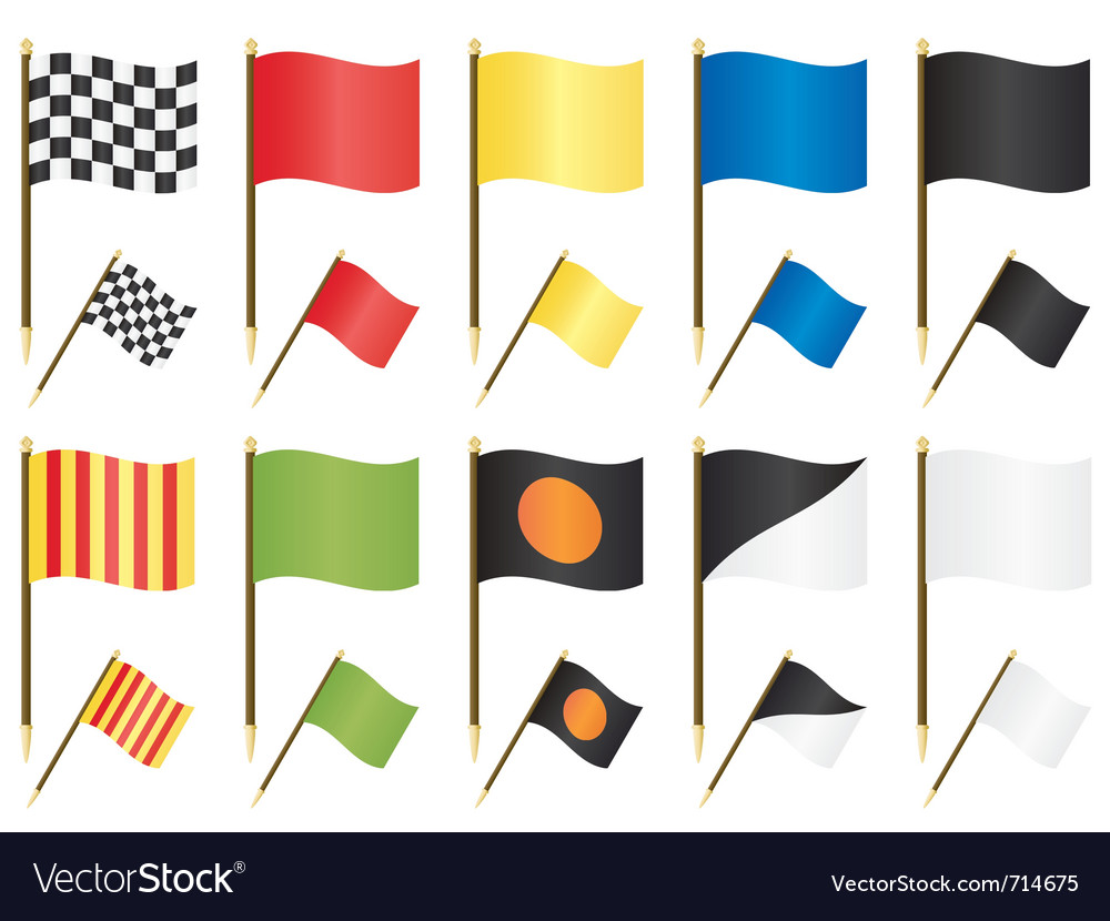 Formula one racing flags vector | Price: 1 Credit (USD $1)