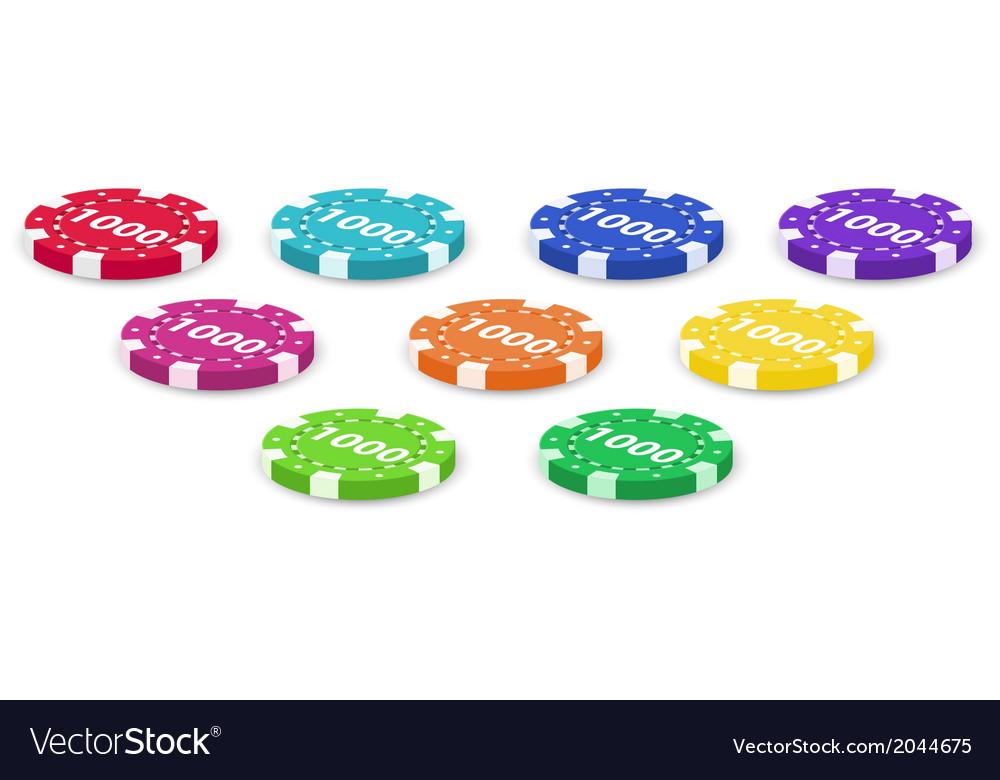 Nine poker chips vector | Price: 1 Credit (USD $1)