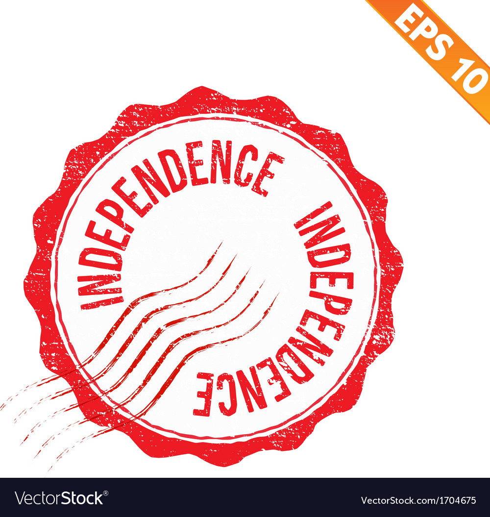 Rubber stamp independence - - eps10 vector | Price: 1 Credit (USD $1)