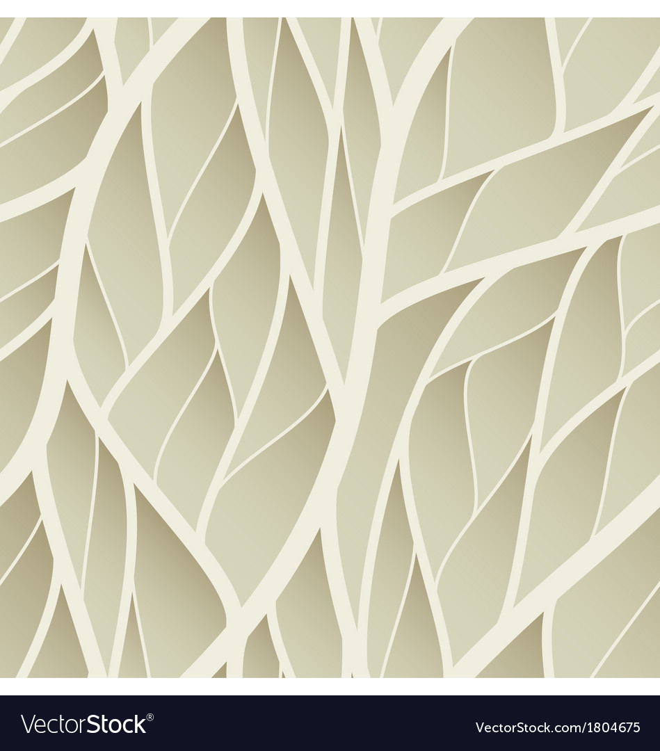 Seamless abstract leaves wallpaper vector | Price: 1 Credit (USD $1)