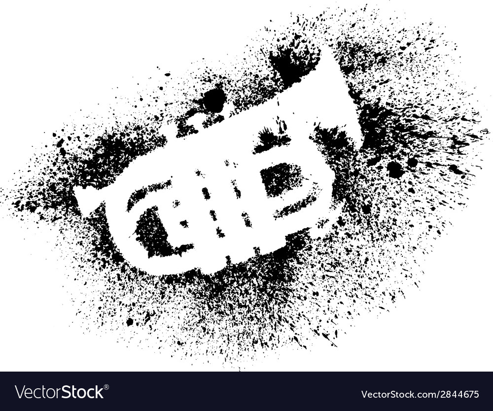 Silhouette of trumpet with grunge black splashes vector | Price: 1 Credit (USD $1)