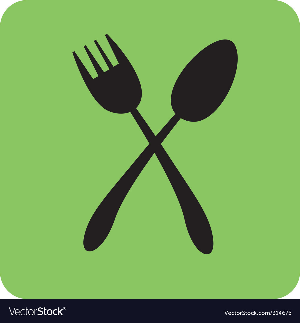 Spoon and fork vector   Price: 1 Credit (USD $1)