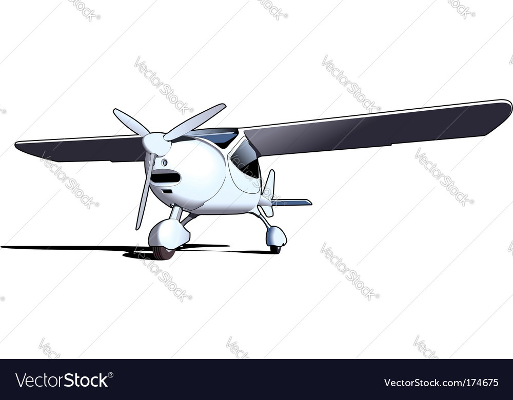 Sporting airplane vector | Price: 1 Credit (USD $1)