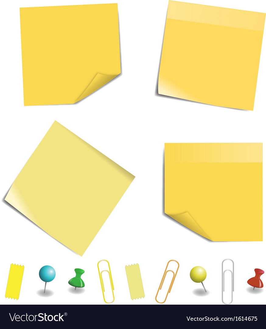 Sticky note paper vector | Price: 1 Credit (USD $1)